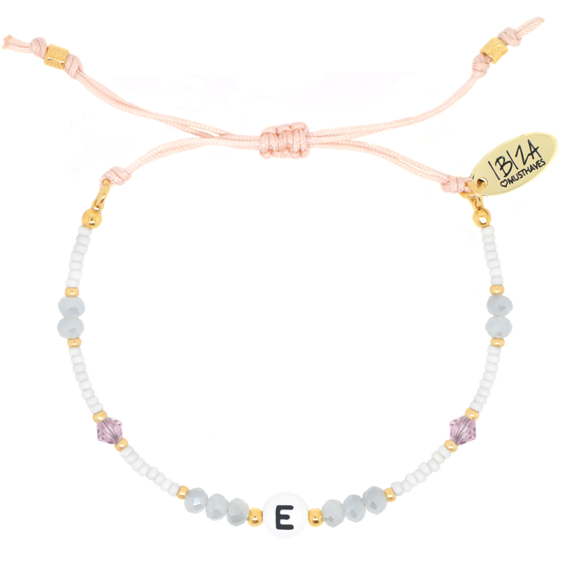Wishfully Initial Birth Stones | Glaskralen Letter Armbandje