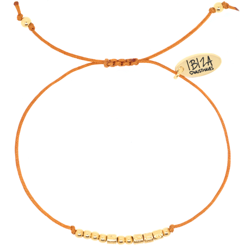 Morse Code Armband   Goud