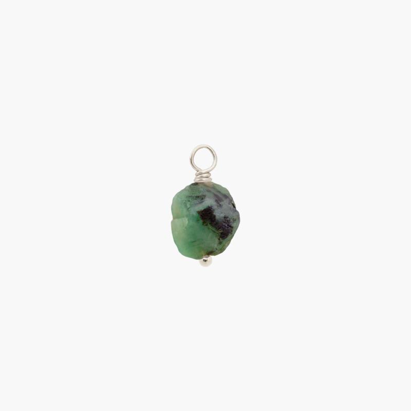 Smaragd Oorbel Hanger | 925 Zilver