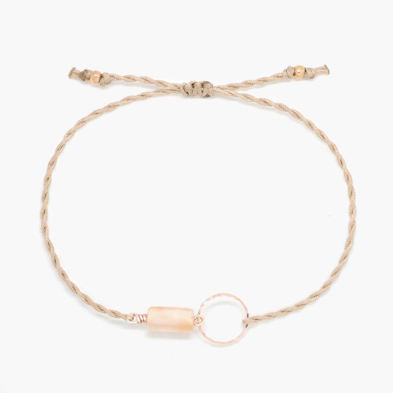 Blossom Moonstone | Maansteen Cirkel Armbandje