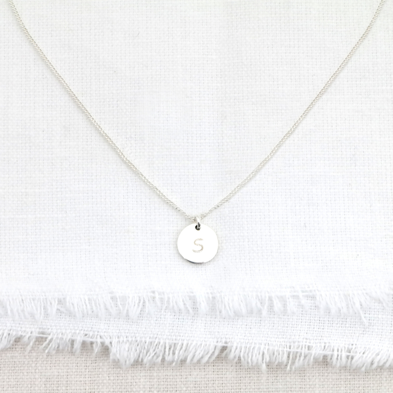 The Coin | Ketting (initiaal) Muntje - 925 Zilver