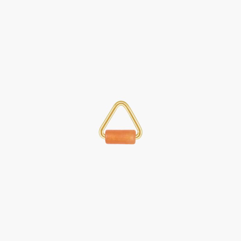 Oranje Aventurijn Triangle Oorbel Hanger   14K Gold Filled
