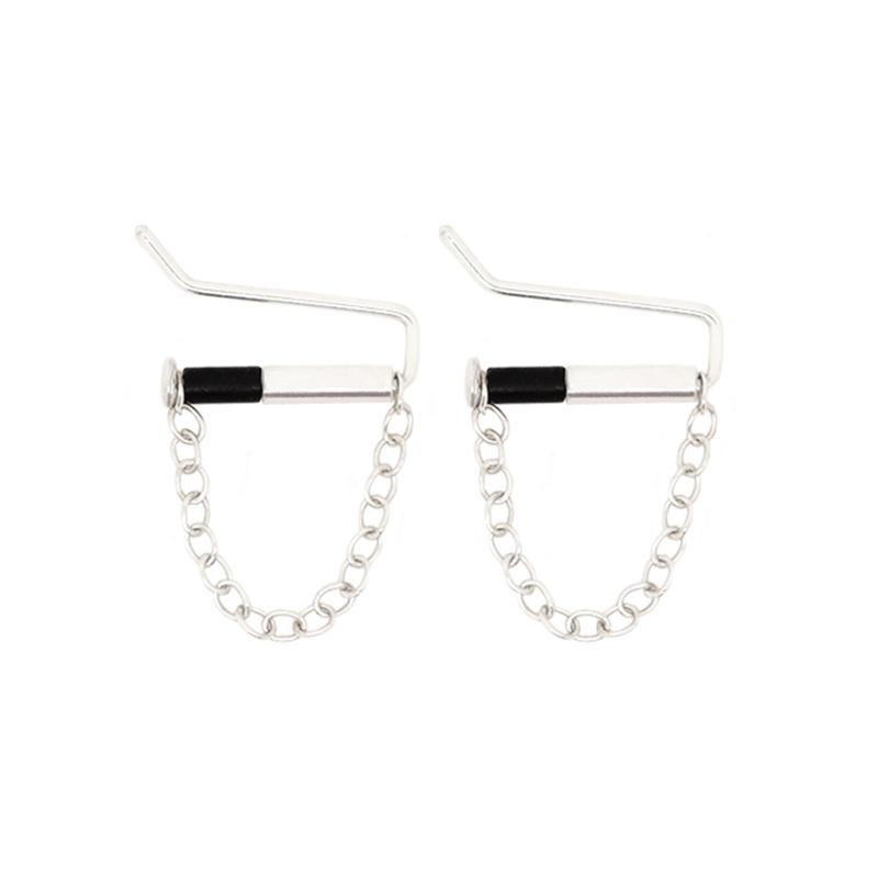 Bar Studs Chain | Oorstekers - 925 Zilver