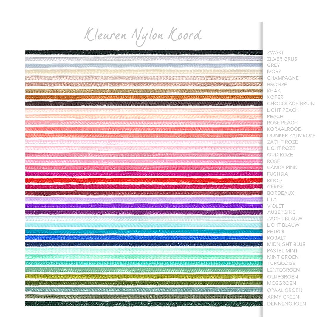 kleuren overzicht nylonkoord