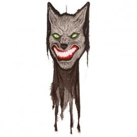 Scary werewolf deco met geluid