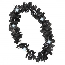 Hawai krans zwart met verlichting