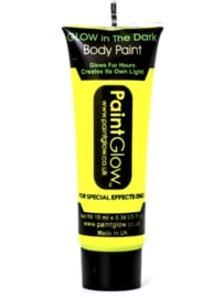Bodypaint geel glow in te dark / neon