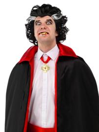 Dracula vampier pruik