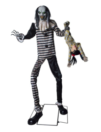 Standing scary clown XXL deco deluxe
