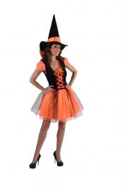 Heksen jurkje oranje