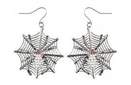 Vampier spinnenweb oorbellen