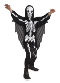 Scary skeleton kids kostuum