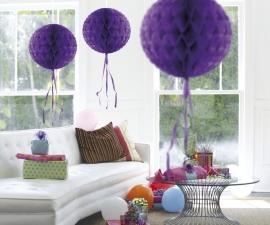 Honeycomb hangdeco paars