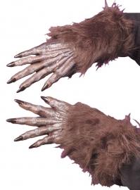 Bruine weerwolf handen