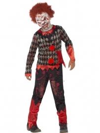Zombie clown kostuum