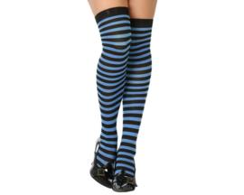 Kousen hold ups - blauw/zwart