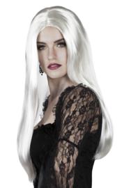 Witte vampieren pruik vrouwen