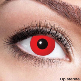 Halloweenlens op sterkte red out -3