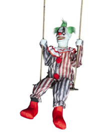 Scary clown schommelende XL Hangdeco