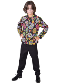 Day of the dead blouse kinderen