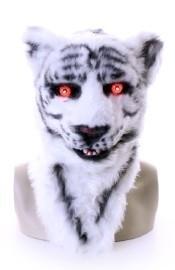 Witte tijger plushe masker