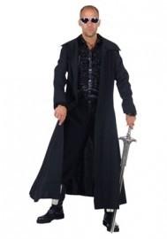 Zwarte halloween mantel