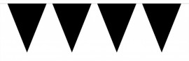 Zwarte mini vlaggenlijn