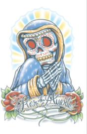 La Flor Day of death tattoo