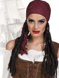 Pirate pruik met bandana