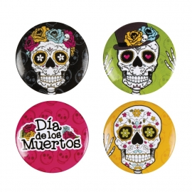 Day of the dead buttons