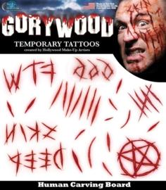 Wond tattoo carving board