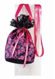 Handtasje buidel pirates zwart pink