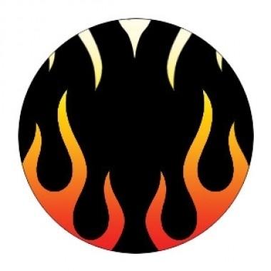 Party contactlenzen hells flame