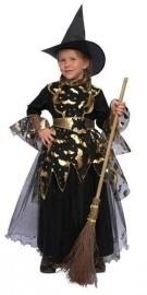Heks jurkje zwart-goud