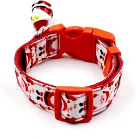 halsband voor kleine hond  S met kerstman