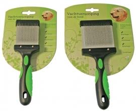 hondenborstel slicker flexibel 2 zijdig small