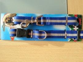 Riem 120 cm met halsband nylon 55 cm