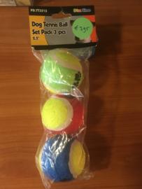Tennisballen 6cm per 3 stuks
