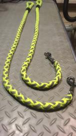 Hondenlijn geel/grijs 118cm