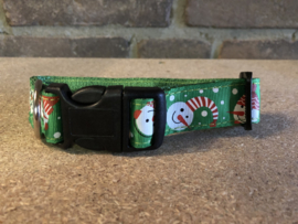 Kerst Figuur halsband   Kat of Hond  S Nylon Verstelbaar