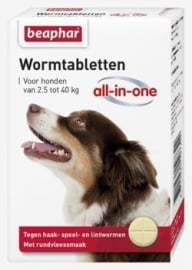 Wormtabletten All-in-One 2,5 - 40kg 4st