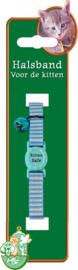 Kitten halsband streep blauw 14 - 24cm