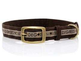 51 Degrees North Dog Collar Brown Earth