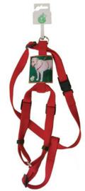 Nylon Verstelbaar Tuig Voor Hond Rood