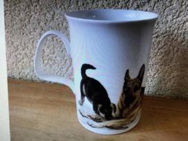 Roy Kirkham Porselein Hond Lovers Beker met Oor