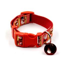 halsband voor kleine hond S  met kerstbel
