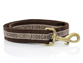 51 Degrees North Dog Leash Brown Earth