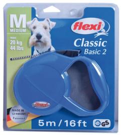 Flexi Honden Rollijn Blauw Medium 5 Meter
