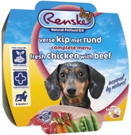Renske Vers Vlees Kip / Rund 8x 100 Gr