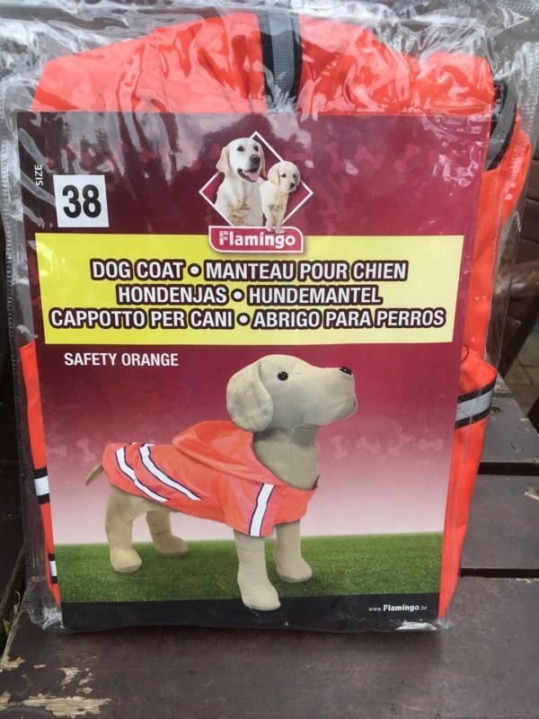 Hondenjas Safety Orange maat 38